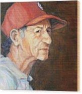 Man In Red Cap Wood Print