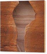 Man In Rock Wood Print by Kelley King