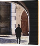 Man In The Archway Wood Print