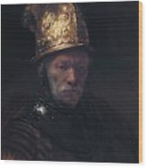 Man In The Golden Helmet Wood Print