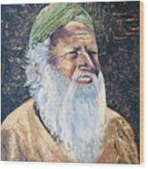 Man In The Green Turban Wood Print
