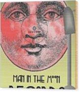 Man In The Moon Wood Print