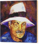 Man In The Panama Hat Wood Print