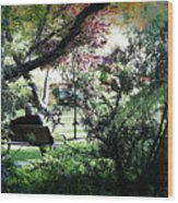Man In The Park Wood Print