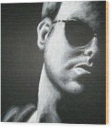 Man In The Shadows Wood Print