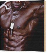 Man Made Of Dark Chocolate Wood Print by Val Black Russian Tourchin