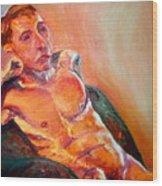 Man Nude Wood Print