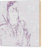 Man Of Steel Wood Print