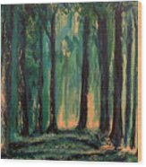 Man Of The Forest Wood Print