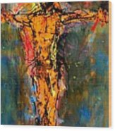 Man On A Cross Wood Print