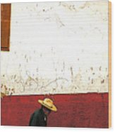 Man On A Patzcuaro Street Wood Print