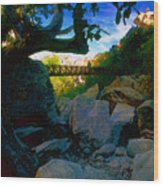Man On The Bridge Wood Print