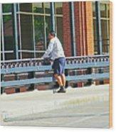 Man On The Bridge Wood Print