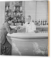 Man Ordering Another Drink, C. 1940s Wood Print