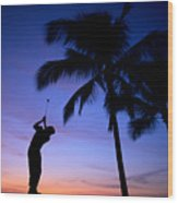 Man Swinging Driver Wood Print