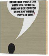 Man Walks Into A Room - Mad Men Poster Don Draper Quote Wood Print