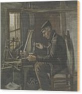 Man Winding Yarn Nuenen, May - June 1884 Vincent Van Gogh 1853  1890 Wood Print