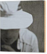 Man With A Hat Wood Print