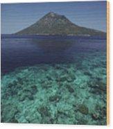 Manado Tua Island Wood Print