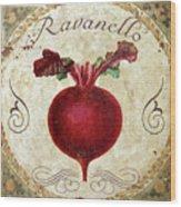 Mangia Radish Wood Print