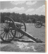 Manassas Battlefield 2 Bw Wood Print