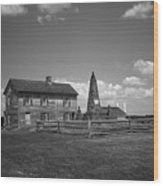 Manassas Battlefield Farmhouse 2 Bw Wood Print