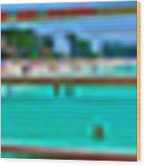 Manatee Beach Pier 360 Degrees Wood Print