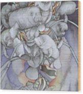Manatee Medallion Wood Print