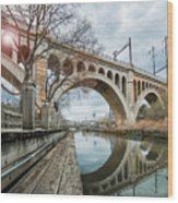 Manayunk Bridge Wood Print
