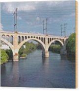 Manayunk Rail Road Bridge Wood Print