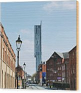 Manchester - Beetham Tower Wood Print by Hristo Hristov