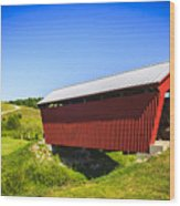 Manchester  Covered Bridge Wood Print