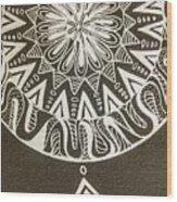 Mandala 001 Wood Print
