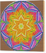 Mandala 12 20 2015 Wood Print