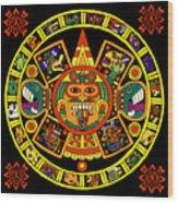 Mandala Azteca Wood Print