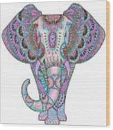 Mandala Elephant Indigo Wood Print