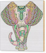 Mandala Elephant Psicodelic Wood Print