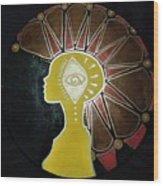 Mandala Mohawk  Wood Print