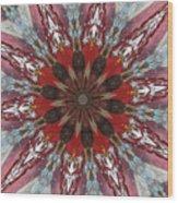 Mandala Of Glass Wood Print