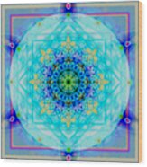 Mandala Of Womans Spiritual Genesis Wood Print