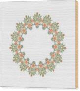 Mandala/photoart Orange Flowers-1 Wood Print