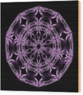 Mandala Purple And Black Wood Print