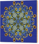 Mandala Sunflower Wood Print