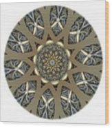 Mandala - Talisman 1434 Wood Print