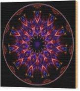 Mandala - Talisman 1449 Wood Print
