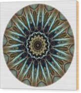 Mandala - Talisman 1457 Wood Print