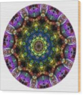 Mandala - Talisman 1526 Wood Print