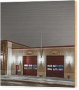 Mandan Fire Department Wood Print