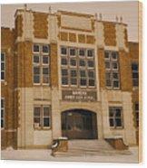 Mandan Jr High School 1 Wood Print