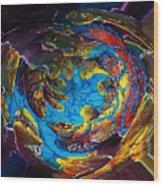 Mandarinfish Abyss Wood Print